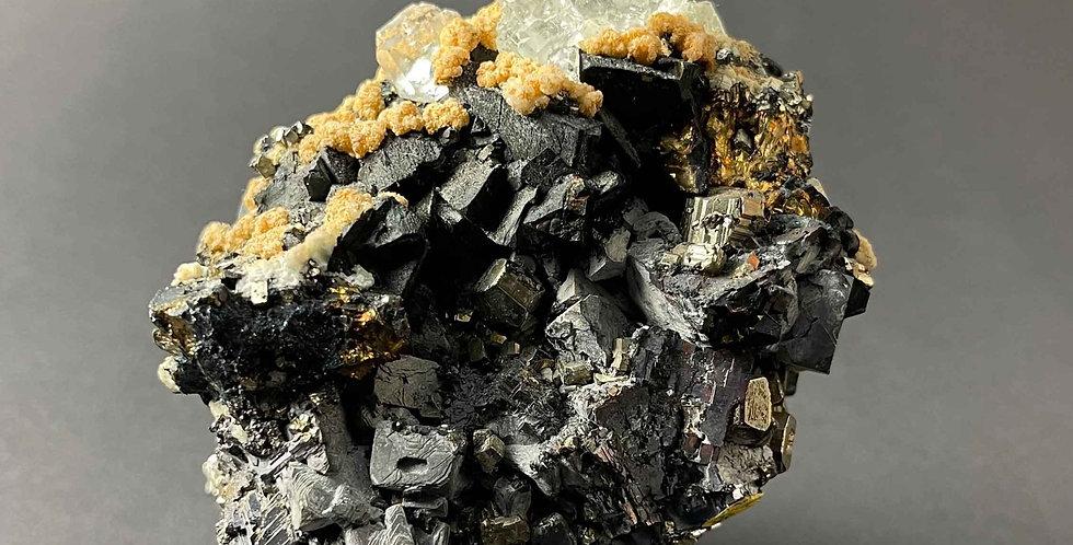 Fluorit, Bleiglanz, Pyrit, Chalkopyrit – Huanzala, Peru