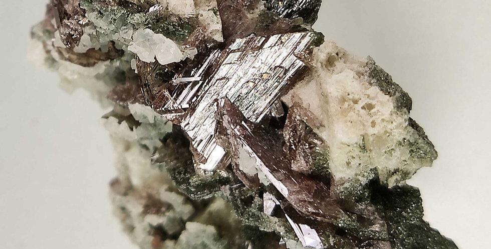 Axinit (Ferroaxinit) - Cavallo del Toro, Val Sambuco, Tessin, Schweiz