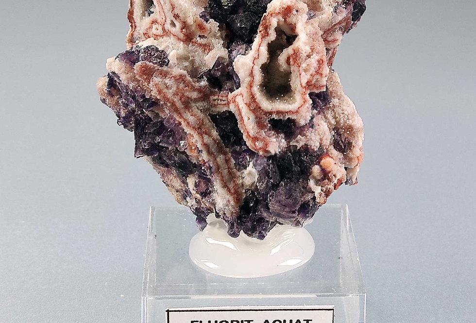 Fluorit (Varietät Antozonit) - Sulzbach bei Donaustauf, Bayern, Deutschland