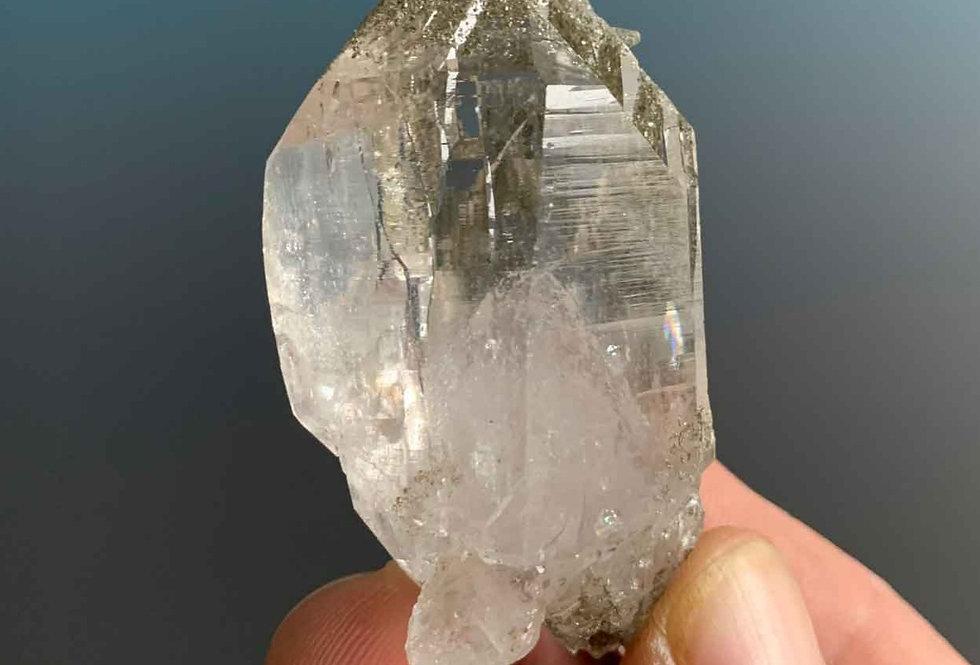 Bergkristall Doppelender mit Chlorit - Rauris, Österreich