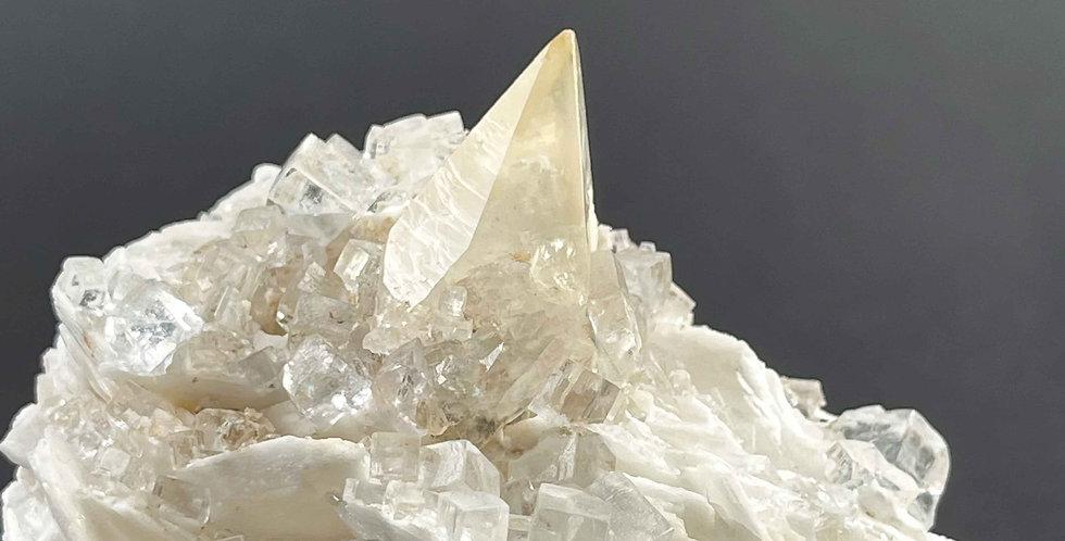 Fluorit und Calcit, Baryt – Jaimina Mine, La Cabana, Asturien, Spanien