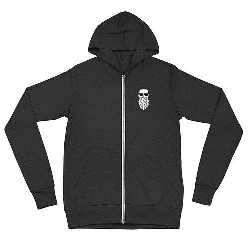 HH Ralph front/ In Hops logo back Unisex zip hoodie