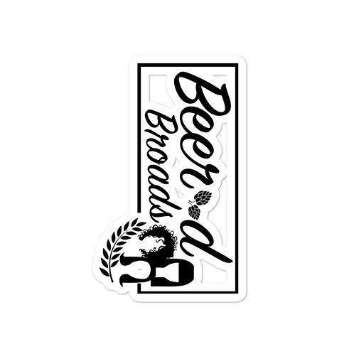 Beer'd Broads Logo Sticker