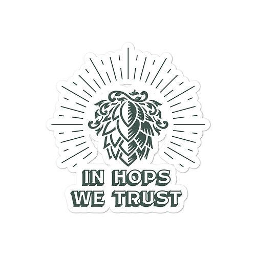 In Hops We Trust Logo Sticker