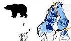 Répartition des ours en Scandinavie