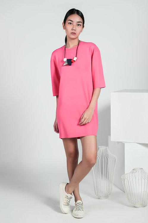 Se7en Knit Button-back Dress