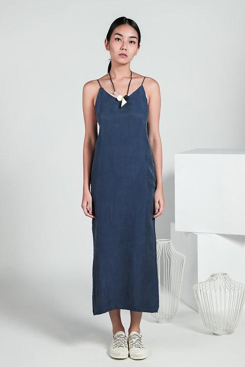 Selene Dual Fabric Midi Dress