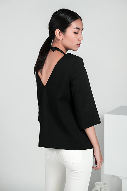 Zaire V-Shape Bare Back Boxy Top