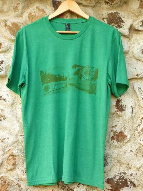Men green t-shirt