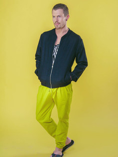 Wool Felt Bomber and Canary Draw Pant.jp