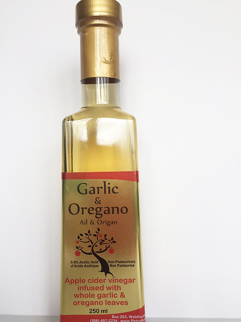 Garlic and Oregano Infused Cider Vinegar