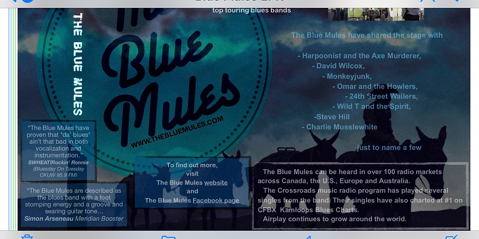 The Blue Mules SOLD OUT!!