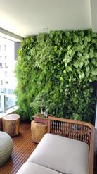 parede verde interior