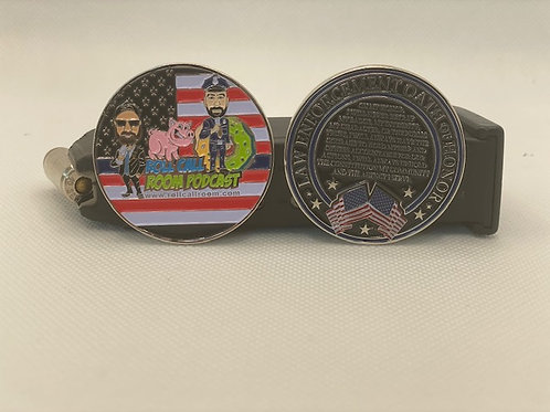 Roll Call Room challenge coin