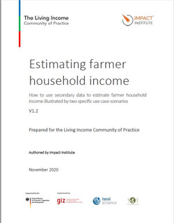 Estimating farmer household income