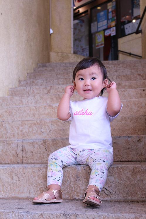 MANAHAU オリジナルベビーTシャツ ~aloha baby~カラープリントver