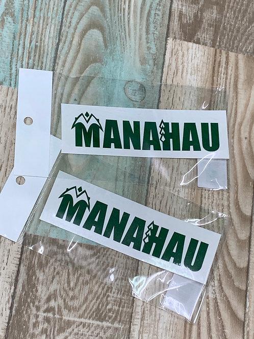 マナハウオリジナルステッカー/MANAHAU Logo