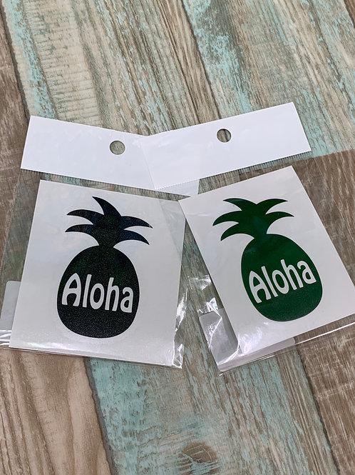 マナハウオリジナルステッカー/Aloha Pineapple