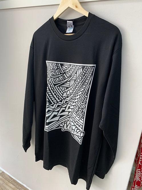 MANAHAU オリジナルロングTシャツ(メッシュ) ~Toa O Le Samoa~