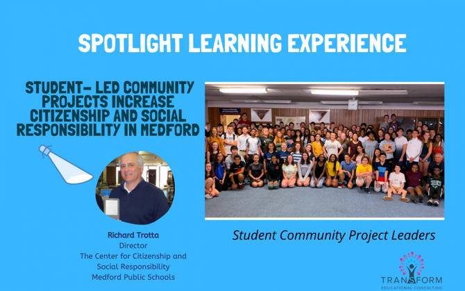 PBL Spotlight Experience: Student- Led Community Projects Increase Citizenship and Social Responsibi