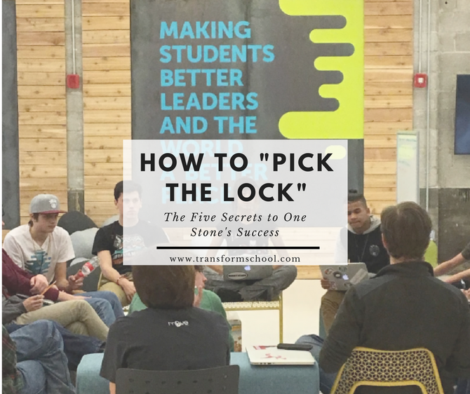 """How to Pick the Lock"": The Five Secrets to One Stone's Success"