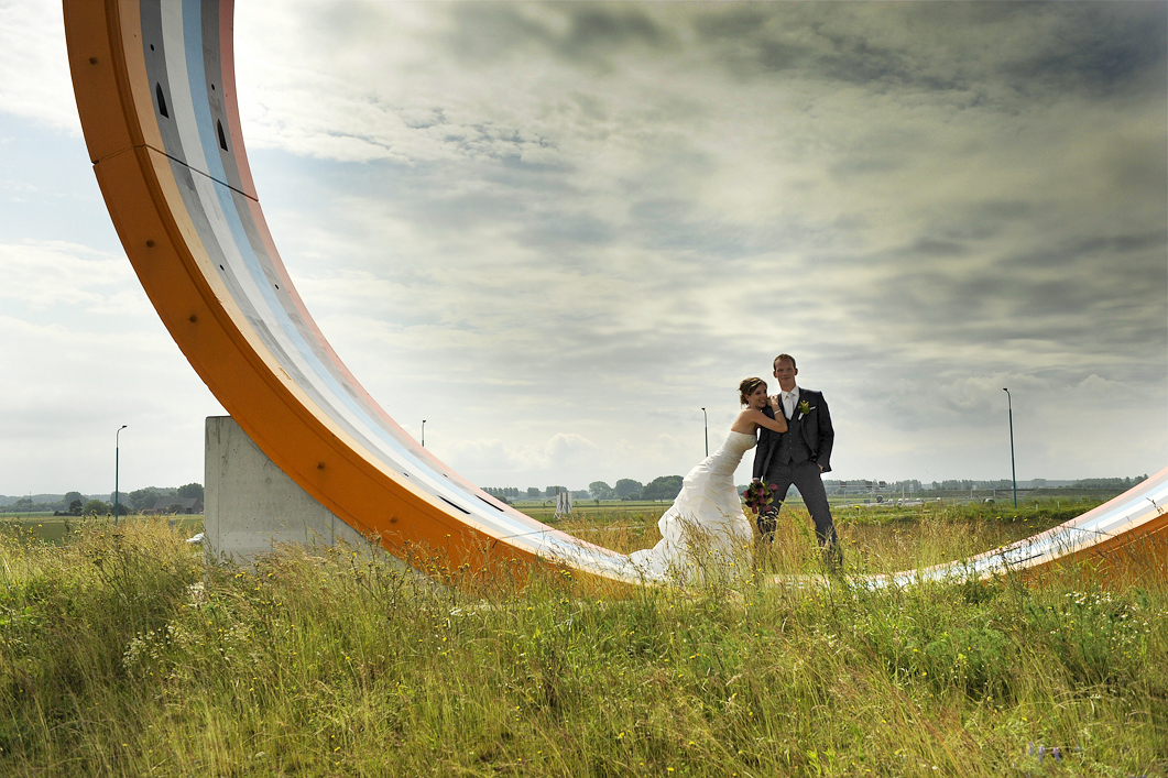 Bruidsfotografie Westerscheldetunnel