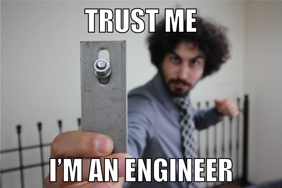 This is the most engineering related picture I could find on my FB. I have more pictures with microphones than anything/anyone else!