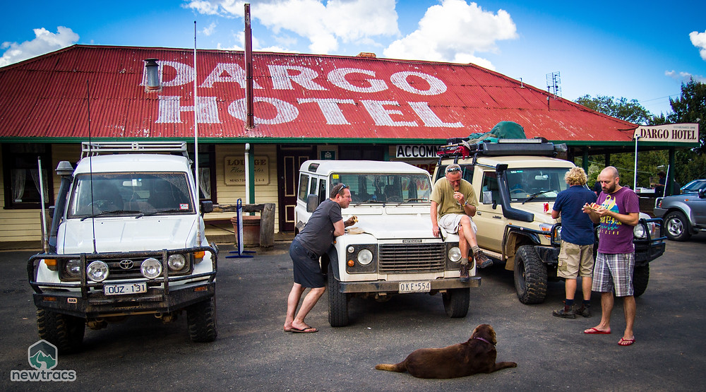 Stopping for a snack at the Dargo pub