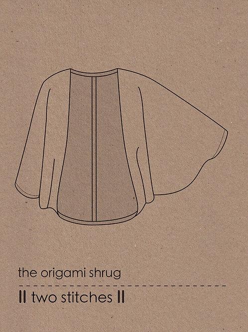 origami shrug - PDF pattern