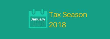 2018 Tax Filing Season Begins Jan. 29