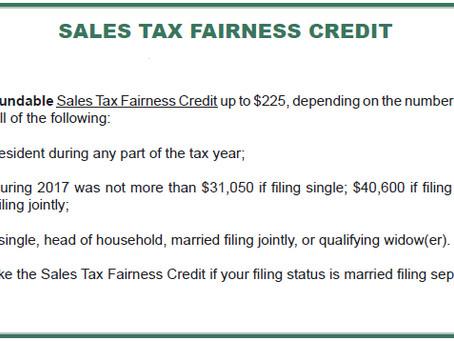 2017 Sales Tax Fairness Credit