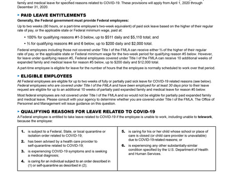 PAID SICK LEAVE (Families First Coronavirus Response Act)