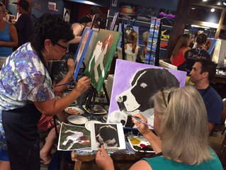"CMBC Members at ""Paint Your Pet"" Night"