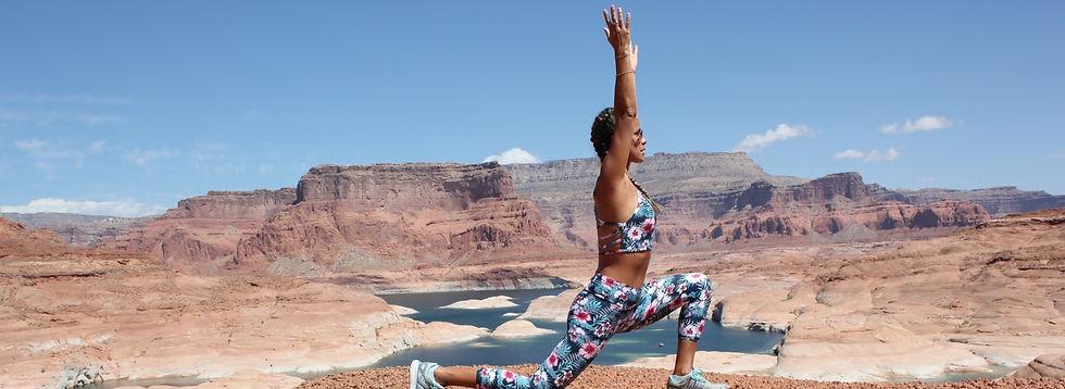 Yoga pose in Utah