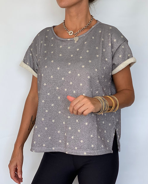 GREY STARS TERRY KNIT