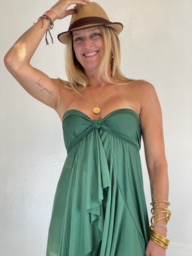 evergreen seaside maxi wrap skirt