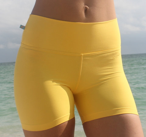 YELLOW WORKOUT SHORTS