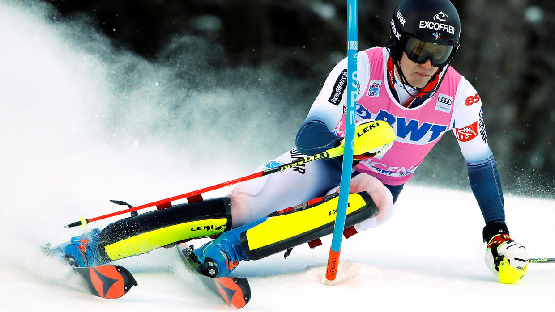 test technique slalom skier