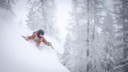 heated ski socks off piste skier