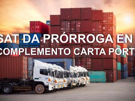 El SAT extiende prórroga para Complemento Carta Porte hasta el 2022