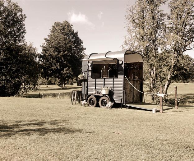 Horsebox bar on field