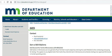 Related Websites - GED Math - MN Dept of