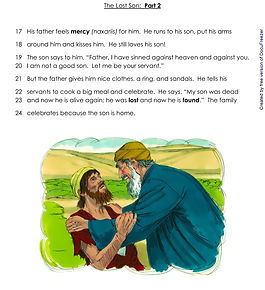 Printables - Bible Stories - The Lost So