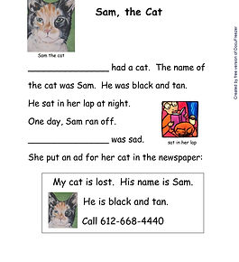 Printables - Story By Story - A - Sam th