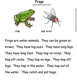 Printables - Story By Story - O - Frogs-