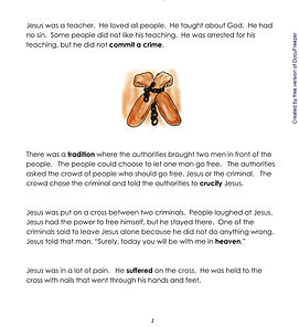 Easter - Intermediate-Story-on-Peace-and