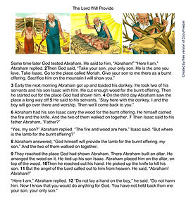 Printables - Bible Stories - Abraham and