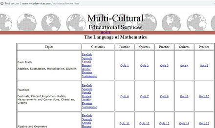 Related Websites - GED Math - Multi-Cult