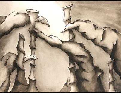 Ink Landscape - rendering