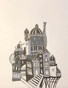 Pen and Ink Building Copy - Rendering